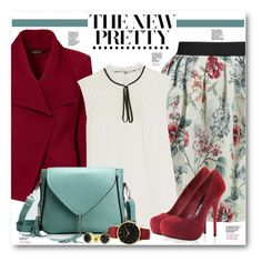"""""""Floral Mini Skirt & Red Blazer"""" by brendariley-1 ❤ liked on Polyvore featuring Greylin, Raoul, Erdem, Larsson & Jennings and Bling Jewelry"""