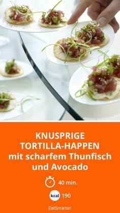 Knusprige Tortilla-Happen - mit scharfem Thunfisch und Avocado - smarter - Kalorien: 190 kcal - Zeit: 40 Min. | eatsmarter.de