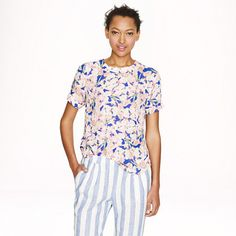 J.Crew - Collection silk floral tee