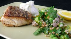 Snapper with Fennel Seeds, Spring Bean Tabouleh and Goats Curd ... Snapper is in season across much of south-east Australia, and they're almost jumping onto lines in Melbourne's Port Phillip Bay. Whether on a boat or just one of the piers, 'Big Red' is ready for this beautiful, healthy recipe.