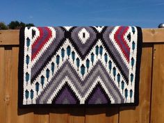 103 Gray and Lavender Alpaca Yucca Flats Saddle Blanket