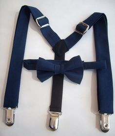 bow tie and suspenders for toddler boy  navy blue by golubchick, $30.00