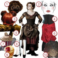 neijie recreates the costume of Mrs. Lovett from Sweeney Todd for today's Halloween DIY The Look: