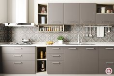 Innovative & New Kitchen Cabinet Design: Modular Kitchen - Furniture Ideas New Kitchen Designs, Kitchen Room Design, Kitchen Cabinet Design, Home Decor Kitchen, Interior Design Kitchen, Kitchen Furniture, Kitchen Ideas, Furniture Stores, Furniture Market