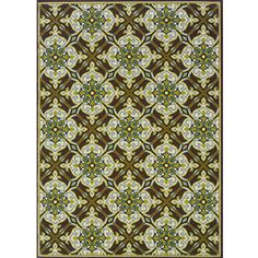 Brown/ Ivory Outdoor Area Rug (7'10 x 10')