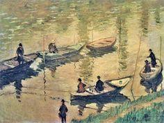 Pêcheurs à la ligne sur la Seine à Poissy (C Monet - W 748),1882.