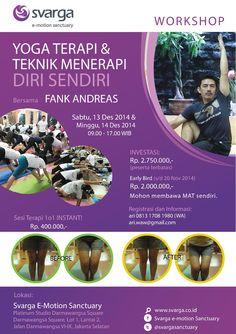 Work Shop Yoga Therapy dan Teknik Menerapi Diri Sendiri bersama Fank Andreas dari Kota Malang