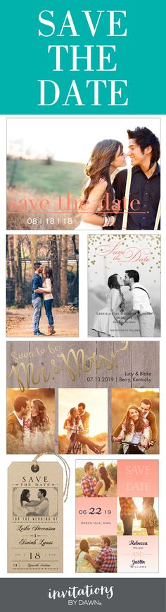 Newly engaged? Now's the time to send your Save the Date! From traditional to modern, we've got you covered.