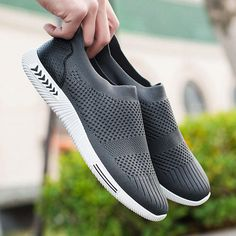 Men Mesh Breathable Casual Flats Sport Shoes - US$24.88