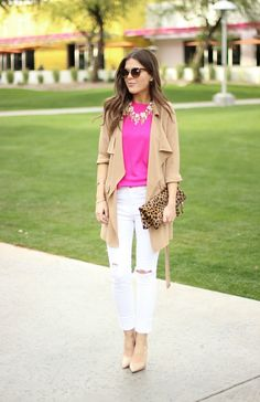 Sophistifunk by Brie Bemis Rearick | A Personal Style + Beauty Blog: Hot Pink + Neutrals