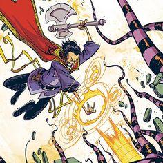 Skottie Young, Character Design, Doctor Strange, Comics, Anime, Cartoons, Marvel, Cover, Instagram