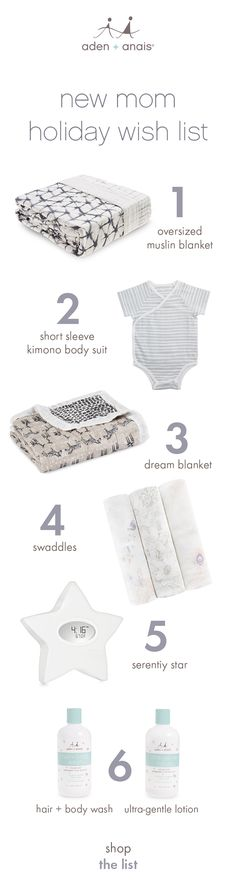 looking for the perfect gift for a new mom? we have a stellar suggestion: how about our serenity star? feeding diary, sound machine, room temp indicator, night light and clock in one modern design for every nursery! or, a classic oversized muslin blanket will keep her warm with baby for extra long cuddles. essential swaddles, luxurious skin care and/or a dream blanket are also gifts she can appreciate with her little one during those special bonding moments.