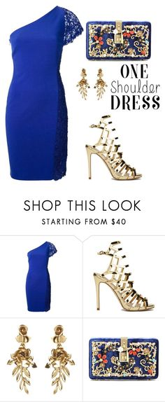"""""""Party Style: One-Shoulder Dress"""" by tania-alves ❤ liked on Polyvore featuring Emilio Pucci, Oscar de la Renta, Dolce&Gabbana and dress"""