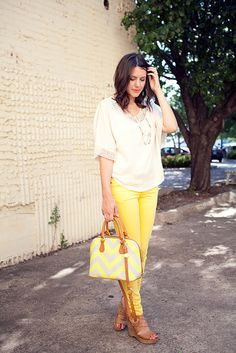 Love the yellow jeans