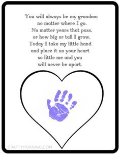 Printable Mother's Day gift idea for grandma - kids handprint. Best Picture For Mothers Day Crafts Grandparents Day Crafts, Grandma Crafts, Grandmas Mothers Day Gifts, Mothers Day Crafts For Kids, Grandparent Gifts, Fathers Day Crafts, Mothers Day Cards, Diy For Kids, Mother Day Gifts
