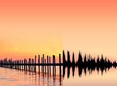 This artist named Anna Marinenko transforms landscapes from around the world into soundwaves. Love the mix of nature and technology - could be fantastic for any headphone or tech brand. Could see Apple Music doing something like this.