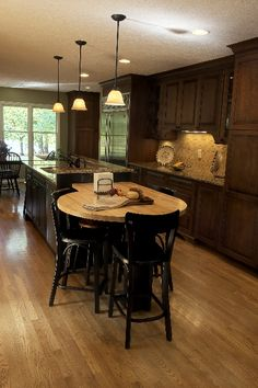 Here+is+a+recent+galley+kitchen+renovation+...+including+a+custom+island+and+tile+backsplash.