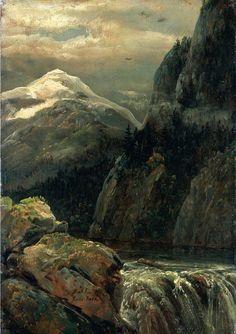 Nordic Landscape with a Lake, 1821, Johan Christian Dahl