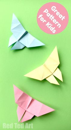 Easy Origami Butterfly - these little paper butterflies are easy and fun to make. We love easy origami for kids.