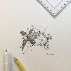 Geometric Beasts | Sea Turtle - Kerby Rosanes: