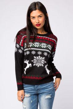 Girls Winter Wonderland Reindeer Sweater
