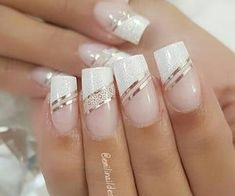 We Heart It上有关Nails Club™的1000+张图片 | 查看更多nails Square Nail Designs, Elegant Nail Designs, Elegant Nails, Stylish Nails, French Manicure Nails, French Nails, Gel Nails, Best Acrylic Nails, Acrylic Nail Designs