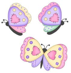 Butterfly appliqué patterns...very bright and cheerful...would be perfect for springtime girls outfit