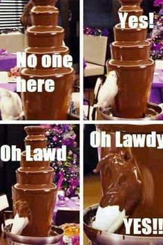 duck in chocolate fountain lawdy | Oh lawdy! I love chocolate! , 9.8 out of 10 based on 5 ratings