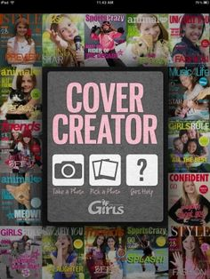 You can be on a magazine cover! Create a cover with any photo from your album or take a picture with the camera. Use templates or create your own unique design! Place designed titles, cover lines, and embellishments...or create and add your own text and drawings! The possibilities are endless—it's up to you!   https://itunes.apple.com/us/app/cover-creator-for-ipad/id519149535?ls=1=8