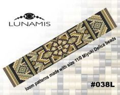 Loom bracelet pattern loom pattern square by LunamisBeadsPatterns