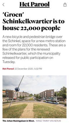 New Bicycle, Pedestrian Bridge, Metro Station, Amsterdam, Public, How To Plan, News