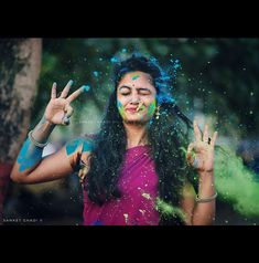 Welcome to Halla, a creative community with the world's best photo contests and video contests. Holi Images, Holi Pictures, Girl Pictures, Cute Girl Photo, Girl Photo Poses, Girl Poses, Holi Festival Of Colours, Holi Colors, Couple Photography Poses