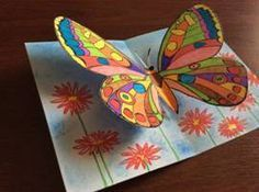 What is Forex? Summer Art Projects, School Art Projects, Easy Paper Crafts, Diy Arts And Crafts, Diy Paper, Butterfly Crafts, Butterfly Art, Spring Art, Spring Crafts