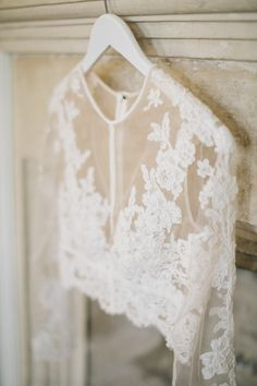 Lace two piece wedding dress: Photography: M&J Photos - http://mandjphotos.com/