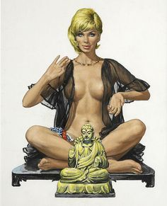 "This painting was on the the cover of ""The 69 Pleasures"" by Rod Gray in 1967."