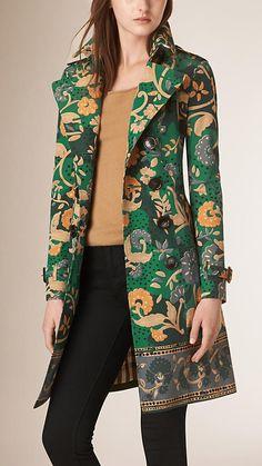 Canard Trench-coat en gabardine de coton à imprimé floral - Image 2