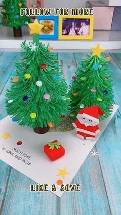 Christmas Arts And Crafts, Handmade Christmas, Halloween Crafts, Holiday Crafts, Christmas Activities, Christmas Diy, Christmas Cards, Christmas Tree Paper Craft, Christmas Decorations Diy Easy