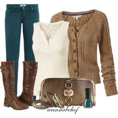 51 Teenage Casual Style Looks That Always Look Great - Global Outfit Experts Casual Outfits, Cute Outfits, Fashion Outfits, Womens Fashion, Teal Pants Outfit, Fall Winter Outfits, Autumn Winter Fashion, Winter Wear, Teal Jeans
