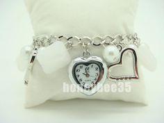 White Crystal Fashion Charm Bracelet Pendant Watch K29 $3.88 Pendant Watch, Crystal Fashion, Michael Kors Watch, Bracelet Watch, Charmed, Watches, Crystals, Bracelets, Accessories