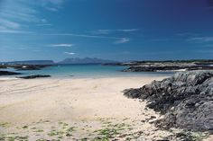 Arasaig in the Highlands of Scotland. The most beautiful beaches I have ever seen Scotland Beach, Scotland Road Trip, West Coast Scotland, Scotland Travel, Highlands Scotland, Ireland Travel, Glasgow, Edinburgh, Fort William Scotland