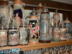 Beer Steins at a shop in the Black Forest