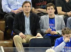 Liam neeson sons | liam neeson and son daniel at eastern conference semifinals - celebs ...