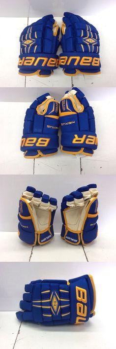 Gloves 20853: Bauer Custom University Of Alaska Nexus Pro Hockey Gloves Senior 13 New BUY IT NOW ONLY: $149.0