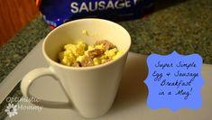Super Simple Egg and Sausage Mug with Tyson Fully Cooked Sausage Recipe #DoItAllMom #cbias