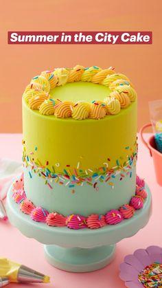 Cake Decorating Techniques, Cake Decorating Tips, Cookie Decorating, Cupcakes, Cupcake Cakes, All You Need Is, City Cake, Cake Decorating Frosting, Summer Cakes