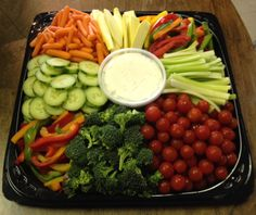Vegetable Tray Side Carrots, tomatoes, celery, broccoli, cucumbers, cauliflower Ranch