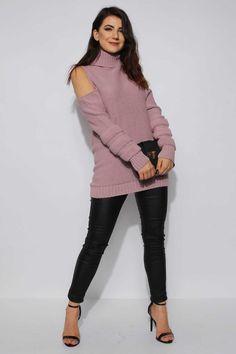 pulover cu umeri goi roz  gros pret pulover cu umeri goi roz ieftine Cauta acum Haine online ieftine si de firma din magazinele online de haine! High Neck Dress, Turtle Neck, Sweaters, Dresses, Fashion, Turtleneck Dress, Vestidos, Moda, Fashion Styles
