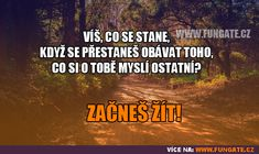 Víš, co se stane, když se přestaneš obávat. Facts, Nice Things, Funny, Quotes, Quotations, Funny Parenting, Hilarious, Quote, Shut Up Quotes