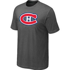 NHL Montreal Canadiens Big & Tall Logo T-Shirt - D.Grey