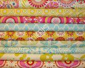 1/4 Yard Bundle / Dena Designs Fabric / KUMARI GARDEN / 1/4 yard bundle of 9 - Cotton Quilt  / Apparel Fabric